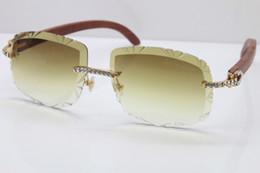 Ücretsiz Kargo Yeni Büyük Taşlar Self-Made Oyma Ahşap Kırpma Lens T8200762 Çerçevesiz Gözlük Ahşap Güneş Gözlüğü Oyma lens supplier wood made glasses nereden ahşap yapılmış camlar tedarikçiler