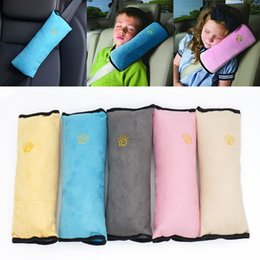 Wholesale yellow fabric belt - Seatbelt Pillow Cushions Kids Auto Pillow Car Safety Belt Protect Shoulder Pad Adjust Vehicle Seat Decorative Pillow 5 Color WX-S01