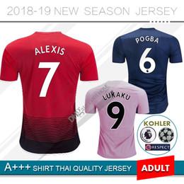 2019 LUKAKU camisetas de fútbol POGBA LUKAKU ALEXIS MARTIAL 2018 2019 casa  rojo AWAY rosa 3RD azul LINDELOF RASHFORD camiseta de fútbol 20e7b8cc47a3d