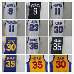 Wholesale 35 l - 35 Kevin Durant 30 Stephen Curry 9 Andre Iguodala 11 Klay Thompson 23 Draymond Green Mens Basketball Jerseys Men Sport Jersey Size S-XXL
