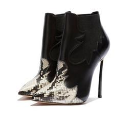 puntini punta punta Sconti Autunno e inverno, nuovi tacchi a spillo, stivali di moda sexy a punta di serpente, commercio estero, scarpe grandi ..