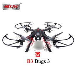 Control remoto mjx online-MJX B3 Bugs 3 RC Quadcopter Drone Motor sin escobillas de control remoto helicóptero RTF bidireccional 2.4GHz 4CH con soporte de la cámara de acción