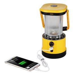 2019 iluminación led de células solares Excelvan Portable Lantern Solar que acampa luces LED, salida USB 5V para el teléfono celular que carga el panel solar de 8LEDs 2.2W para ir de excursión rebajas iluminación led de células solares