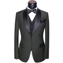 Herren Anzüge Hochzeit 2018 Neuesten Mantel Hosen Und Weste Designs Slim Fit Runden Kragen Prom Party Anzüge Kleid Grau Weiß Blau Schwarz von Fabrikanten