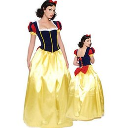 tallas grandes disfraces de carnaval Rebajas Talla grande 6XL Adultos Blancanieves Disfraz Carnaval Disfraces de Halloween para mujer Cuento de hadas Princesa Cosplay Mujer Vestido largo