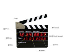 2019 lojas grossistas de alimentos 2018 venda quente tamanho grande diretor edição digital despertador ação do filme led mesa relógio clapper filme ardósia tabela frete grátis