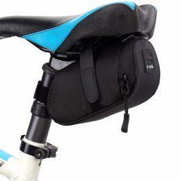 Wholesale bicycle seat saddle bag - Bike Saddle Seat Bag Bicycle Waterproof Key Phone Wallet Holder Bicycle Storage Saddle Bag Tail Rear Pouch Attached Lamp Belt