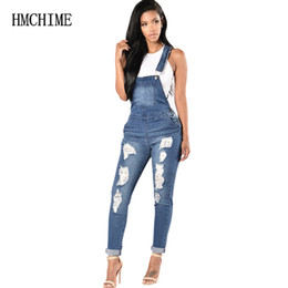 6b46224474 woman overall jeans Coupons - Elastic Fabric Women Suspender Jean  Adjustable Plus Size Denim Overalls Ripped