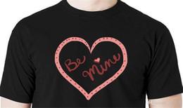 doces de valentim Desconto 2018 Crossfit T Shirts Seja Meu camiseta - Dia Dos Namorados coração amor casais doce Hipster O-pescoço legal tops