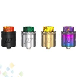 Goteo online-Iluminado RDA Atomizador 24 mm Diámetro Los atomizadores Rebuible Dripper Tanque Para 510 Caja de Rosca Mod E Cigarrillo sin DHL
