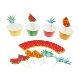 24pcs Multicolor Serie di piatto di torta Toppers Cake Decor Wedding / Summer Pool Kid Birthday Party Decoration Alta qualità da
