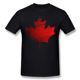 Wholesale unique tee shirts - New Coming Homme Cotton Canada Tee-Shirt Homme Crewneck Black Blouse Short Sleeve Plus Size Unique Tee-Shirt