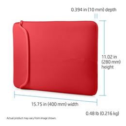 """capa de couro apple macbook pro Desconto 15.6 """"Reversível Laptop Neoprene Sleeve Bag Bag Case para 7"""" ~ 17 """"polegadas Preto / Vermelho Bonito e generoso"""