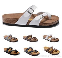 732fb5f17e89d New Mayari Arizona Gizeh 2017 venda Quente verão Homens Mulheres  apartamentos sandálias chinelos de Cortiça sapatos casuais Rosa Preto  Branco marrom cores ...
