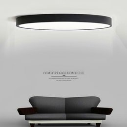 Wholesale Modern Acrylic Ceiling Lamp - RC Dimmable UltraThin 5cm Led Ceiling Lamp living room Lamp Modern Simple bedroom dining room round acrylic Ceiling Lights Plafondlamp