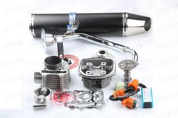 Wholesale Gy6 Exhaust - Chinese Scooter 150cc 180cc Big Bore 61mm GY6 A9 Cam, Racing CDI & Coil exhaust pipe 5 colors optional