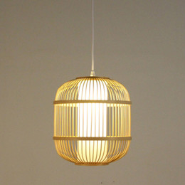 Wholesale Pure Restaurant - Southeast Asia chandelier creative retro bamboo restaurant bar coffee shop bamboo wood craft chandelier pure hand knit