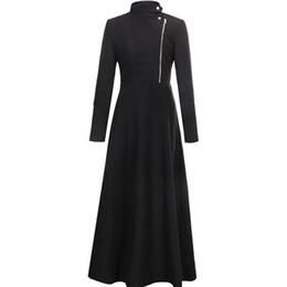 Casaco comprido de caxemira on-line-Casaco de Caxemira Cashmere Coreano Do Vintage Do Vintage Nova Chegada 2018 Moda Feminina Roupas Elegantes X-Long Casaco de Lã Casuais