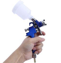 Pistolas de pintura lvlp online-H-2000 Profesional HVLP Spray Gun 0.8mm / 1.0mm Boquilla Mini Air Paint Spray Guns Aerógrafo para Pintura de Coche Aerógrafo Decoración