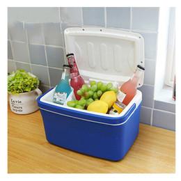 Wholesale Car Refrigerators - 8L Portable Car Refrigerator Auto Interior Fridge Drink Food Cooler Warmer Box Fruit Fresh-keeping Cabinet Freezer