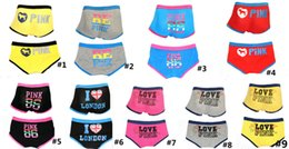 Wholesale cute panties - 2018 Love Pink Letter Women Underwear Men Boxers Cute Sexy Lovers Couple Underpants Soft Modal Girls Panties Briefs