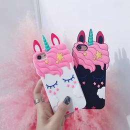 Canada Coques pour iPhone X Unicorn Pour iphone XS Max XR X 8 8plus 7 7plus 6 6S 6plus Cheval de Bande Dessinée supplier iphone covers for girls Offre