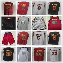 Wholesale gray basketball jersey - College City Edition The Land Gray #0 Kevin Love Jersey Red #2 Collin Sexton White Black Stitched #5 JR Smith Tristan Jerseys Shorts