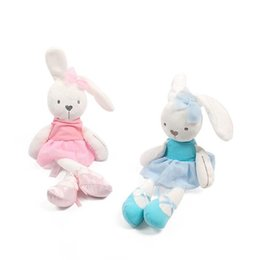 Wholesale mini plush bunnies - 42cm Cute Bunny Baby Soft Plush Toys Mini Stuffed Animals Kids Baby Toys Smooth Obedient Sleeping Rabbit Doll