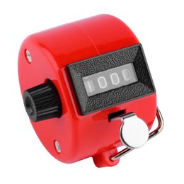 Wholesale hand tally manual counters - Wholesale- 4 Digit Hand Held Tally Counter Manual Palm Clicker Number Counting Golf Worldwide Free Shipping