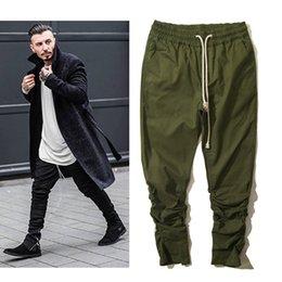 Justin bieber marca estilo cremallera lateral hombres slim fit casual para hombre hip hop jogger pantalones de motorista pantalones de chándal marea primavera otoño harem pantalones desde fabricantes