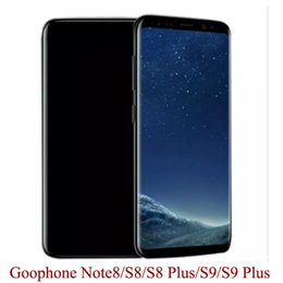 Wholesale note dual sim 3g android - Goophone S8+ S8 Plus 9+ 9 plus Note8 Note 8 Full Screen 1GB+4GB 8GB 16GB MTK6580 Quad Core Android 7.0 3G Cellphone