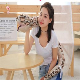 Wholesale plush snakes - Simulation Python plush toys strange and frightening snake pillow pillow toys gift Halloween long 165cm