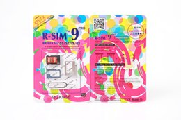 Originale R-SIM 9 RSIM9 R-SIM9 Pro Perfect SIM Card Sblocca Official IOS 7 7.0.6 7.1 ios7 RSIM 9 per iphone 4S 5 5S 5C GSM CDMA WCDMA 3G / 4G da ios7 iphone 4s fornitori