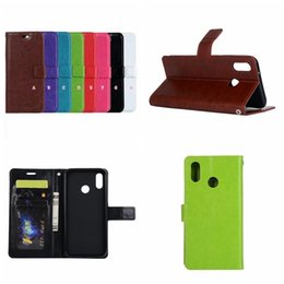 Wholesale Case V9 - Case For Huawei P20 Lite P10 Plus Mate 10 Pro Honor V9 7X Leather Wallet Magnet Magnetic Retro Crazy Horse Card Slot ID Flip Cover PU Pouch