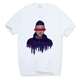 Wholesale Print Robot - 2017 S-XXXL Men Print Mr Robot Fsociety Fashion T-shirt Short sleeve O-Neck Summer Casual T-shirt Camisetas Hombre HCP1061