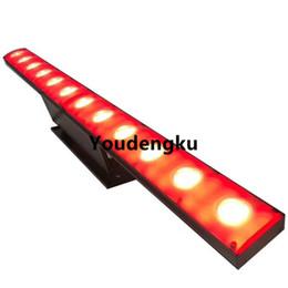 Линейные светодиодные шайбы онлайн-4 шт. IP20 12x3 Вт теплый белый / холодный белый + 72 шт. SMD 505 dmx rgb настенный светильник светодиодный луч тонкий линейный сценический омыватель