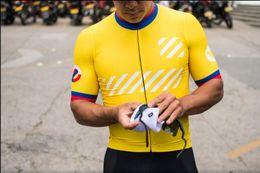Maglia gialla bicicletta gialla online-2018 australiano colore nero di pecora nera con tessuto migliore ciclismo di alta qualità Jersey Race fit migliore qualità spedizione gratuita