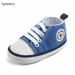 Wholesale Baby Girl Shoes Pair - 1 Pairs Lytwtw's Kids Girls Boys First Walkers Ninas Newborn Infantil Football Canvas Baby Toddlers Zapatos Shoes Children