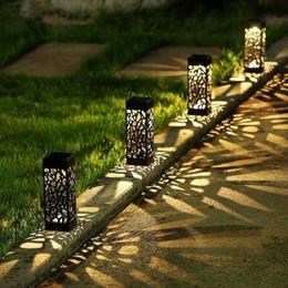 Linterna solar para decoración. online-2018 Proyector Láser de Navidad Jardín Solar Luces de Sendero Lámpara de Césped para Linterna Decoración Luz de Sendero Exterior Inalámbrico Impermeable Noche Impermeable Led