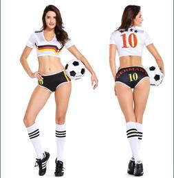 Lencería sexy Uniforme Jugador de fútbol Alemania Animadora Copa Mundial de Fútbol Chica Disfraz Disfraz P2808 desde fabricantes