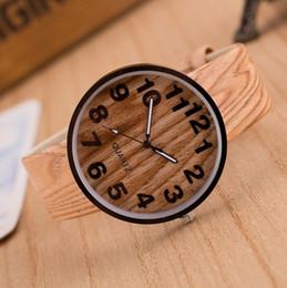 2019 relojes baratos a mano Estilo Grano de madera PU banda de cuero Mujeres Hombres Vestido de cuarzo Relojes de pulsera Relojes de pulsera reloj mujer kol saati Apuesto relojes baratos a mano baratos