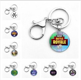 Wholesale men rings gem - 30 colors Classic FPS Game Keychain Key Ring Toy Gift Alloy Metal Time Gem Pendant Keyring Jewelry for Men Women Key Chain Souvenir