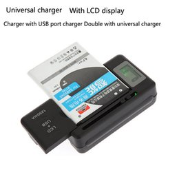 Wholesale Cell Phone Charging Display - Universal LCD Display Mobile Charge Seat Adapters Cell Phone Battery Wall Travel Charger with USB Port US EU AU UK Plug
