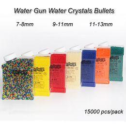 2019 balas de brinquedos Crianças Water Gun Brinquedos Cristais de Água Balas 7-8mm 9-11mm 11-13mm 15000 pçs / pack Arma de Água bb arma Balas De Cristal Crianças brinquedos LA726 desconto balas de brinquedos