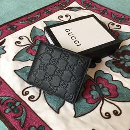 Argentina De alta calidad de lujo diseño de la celebridad carta en relieve hebilla monedero paquete de tarjeta de cuero de cuero negro hombre 365466 monedero embrague Suministro