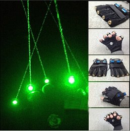 Wholesale Laser Green Module - AOBO Lighting green laser gloves with 4 pcs green laser module dancing stage show light DJ CLUB party w palm light