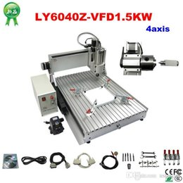 Wholesale Axis Milling Machine - Free shipping! 4 axis 6040 3D cnc router engraver drilling and milling machine with 1.5KW for aluminum metal wood and stone