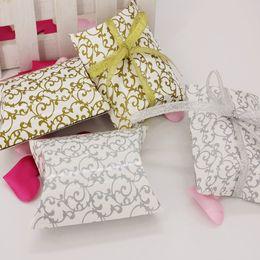 Wholesale Candy Shaped Pillows - Wedding Gift Boxes 20pcs Flower Print Pillow Shape Wedding Favor Gift Bag ,Party Candy Box Wholesales Event Party Supplies