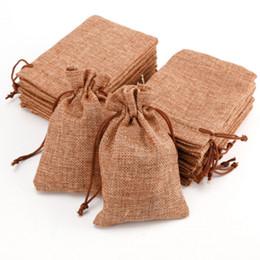 Wholesale Mini Jute Bags Wholesale - Wholesale-10PCS Mini Jute Drawstring Burlap Bags Wedding Favors Party Christmas Gift Jewelry Hessian Sack Pouches Packing Storage Bag S35