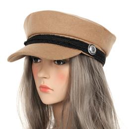 Moda cappelli invernali per le donne berretto invernale cappello di lana  femminile pulsante berretto da baseball visiera cappello Fall Baker s Boy  Casquette ... 4b1aa1e4033b